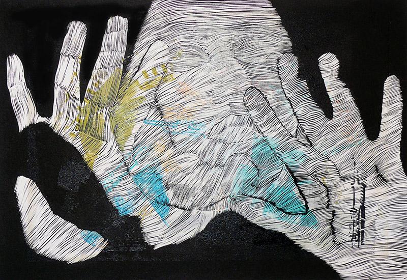 U.A. | linocut | 50X70 cm
