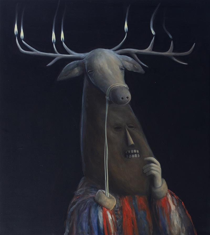 The Sacret Stag | 113 X 100 cm | 2013