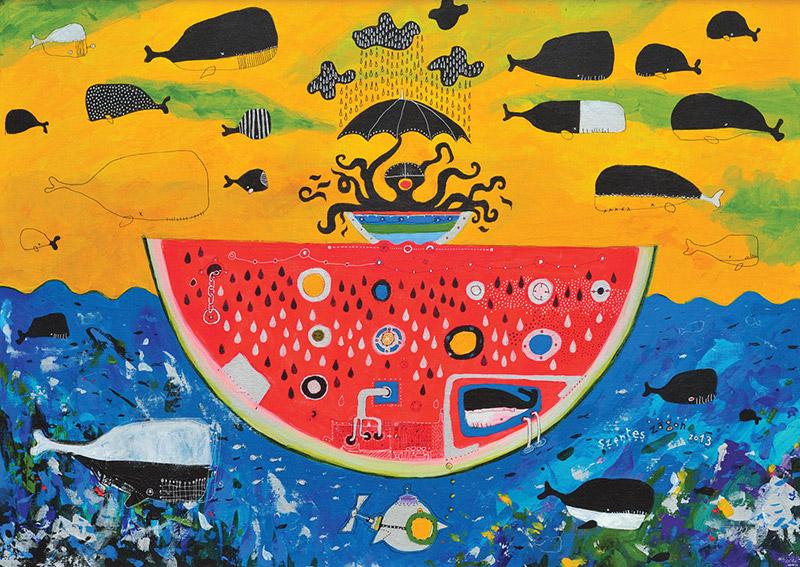 Frutti Di Mare |  Canvas | 50×70 cm | acryl | 2013