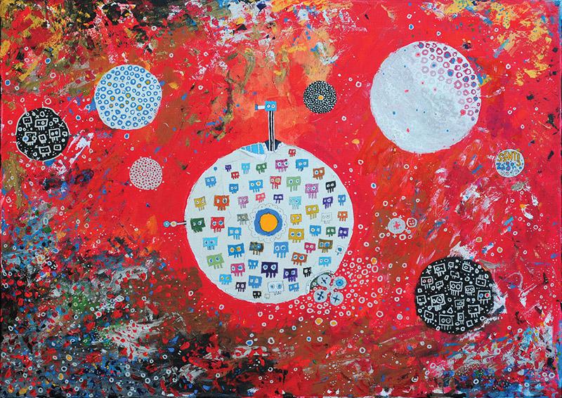 Solar System |  Canvas | 50×70 cm | Acryl | 2012